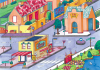 In Town (100pc) (A3) Puzzle Environment JK0225-Pa