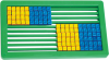 Abacus Learner 100beads 2 Col Slatted  JK1341-Co