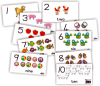 Desk Cards - Numbers Names Pictures 1-10 (10xA4) GrR  JK2300-Pa