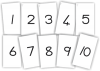 Desk Cards - Number Symbols 1-10 (10 x A5) GrR&1  JK2303-Pa